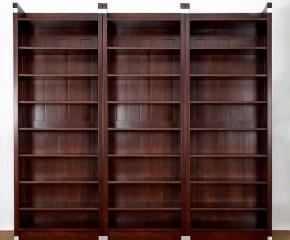 b cheregale massivholz sonderangebot drei regale erle massiv im nussbaumton b cherregal berlin. Black Bedroom Furniture Sets. Home Design Ideas