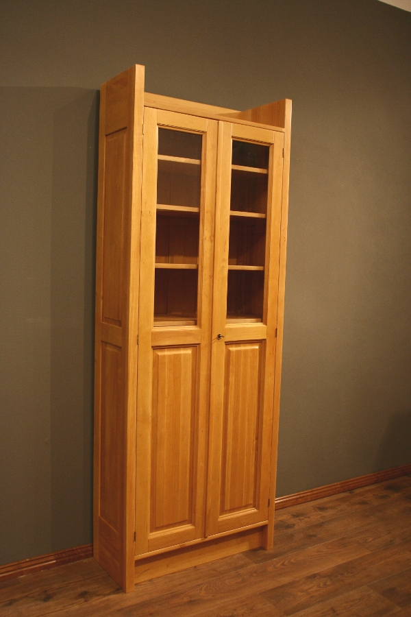 massivholz b cherschrank regalsystem einsplus regal mit t ren erle massiv natur b cherregal. Black Bedroom Furniture Sets. Home Design Ideas